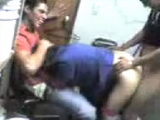 Cleaning Woman Gangbanged In Locker Room Amateur Video