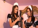 Hot Looking Maids Finds Big Dildo In Bosses Bedroom And Go Wild