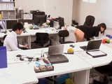 Naughty Boss Is Driving Crazy Her Junior Colleague at the Office