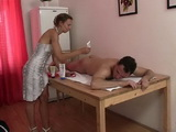 Ugly Mature Woman Saduces Young Guy With Massage With Happy End