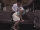 Japanese Secretary Airi Suzumura Gets Abused In A Bus By Her Colleagues Friend