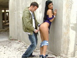 Teen Hottie Gets Fucked at Abandoned Construction Site