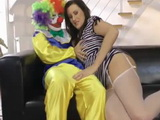Time Comes To Lucky Clown To Satisfy Milf Mommy After Childs Bday Party