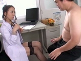 Patient Complain To Milf Doctor That Feels Constant Pressure In His Cock And She Heals Him Well