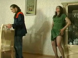 Horny Russian Milg With Pussy on Fire Teasing Repairman To Fuck Her