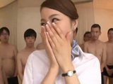 Japanese Stewardes Gets The Strangest Surprise Birthday Party She Could Ever Imagine From Male Company Employers