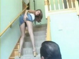 Naughty Girl Gets Fucked On the Stairs