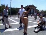 Brunette gets Fucked In Public