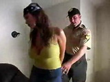 Blackmailed Arrested Busty Milf Gets Fucked By Dirty Cop