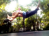 Amateur Teen Girl Fucking Her Neighbor On A Trampoline